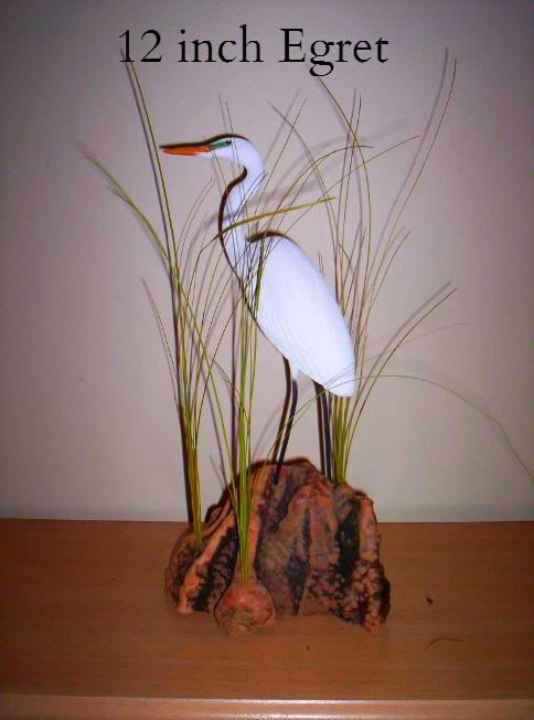 Egret Sculpture by Rod Becklund