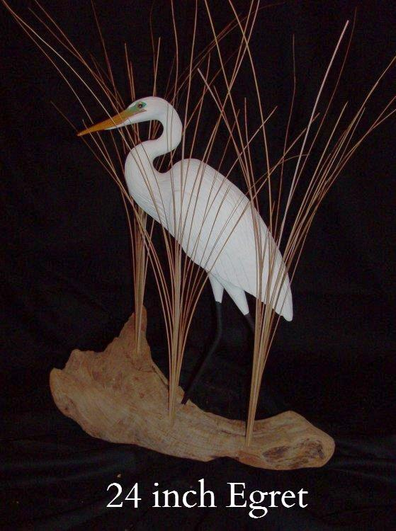 wading bird sculpture egret statue