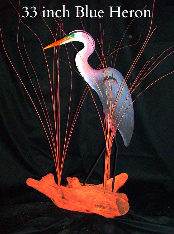Blue Heron carving