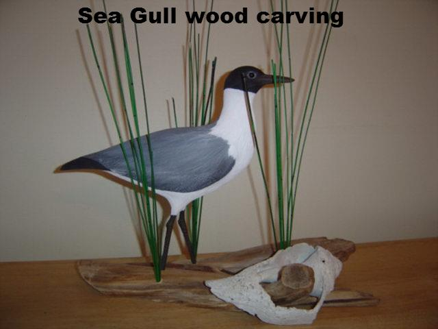 Sea Gull Carving
